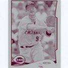 2014 Topps Mini Baseball Mini Printing Plates Magenta #080 Jack Hannahan - Reds Serial # 1/1