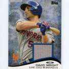 2014 Topps Mini Baseball Mini Relics #MRDW David Wright - Mets Game Used Jersey