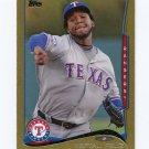 2014 Topps Mini Gold Baseball #310 Neftali Feliz - Texas Rangers Serial #32/63
