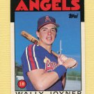 1986 Topps Traded Baseball #051T Wally Joyner XRC - California Angels