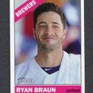 2015 Topps Heritage Baseball SP #474 Ryan Braun - Milwaukee Brewers