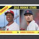 2015 Topps Heritage Baseball #179 Xavier Scruggs RC / Samuel Tuivailala RC - St. Louis Cardinals