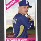 2015 Topps Heritage Baseball #095 Scooter Gennett - Milwaukee Brewers