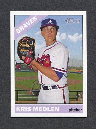 2015 Topps Heritage Baseball #056 Kris Medlen - Atlanta Braves