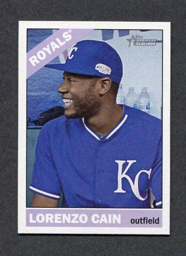 2015 Topps Heritage Baseball #054 Lorenzo Cain - Kansas City Royals