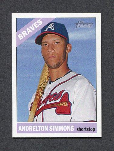 2015 Topps Heritage Baseball #032 Andrelton Simmons - Atlanta Braves