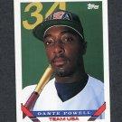 1993 Topps Traded Baseball #045T Dante Powell RC - Team USA