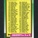 1990 Topps Baseball #376 Checklist 3 EX