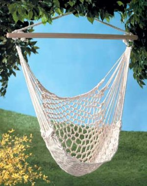 PORCH TREE COTTON ROPE SWING HAMMOCK CHAIR hammocks