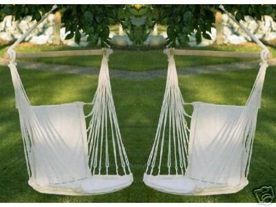 2 Cotton Padded IN OR OUTDOOR Swing Chair Hammocks SPECIAL SALE
