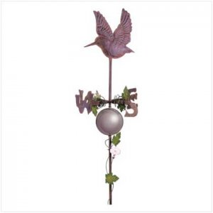 Hummingbird Weathervane With Gazing Ball