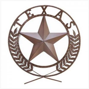 """LARGE 25"""" Across TEXAS Star Wall Plaque"""