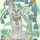 Bluebells & Bast Egyptian Cat Goddess ACEO Print