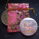Holiday of the Cosmic Pink Poodle Pocket Mirror & ACEO Print