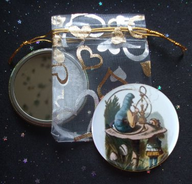 Hookah Smoking Caterpillar from Alice's Adventures in Wonderland Pocket Mirror