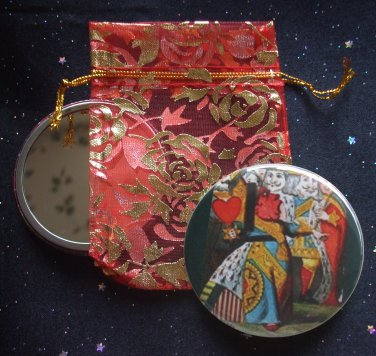 Queen of Hearts from Alice's Adventures in Wonderland Pocket Mirror