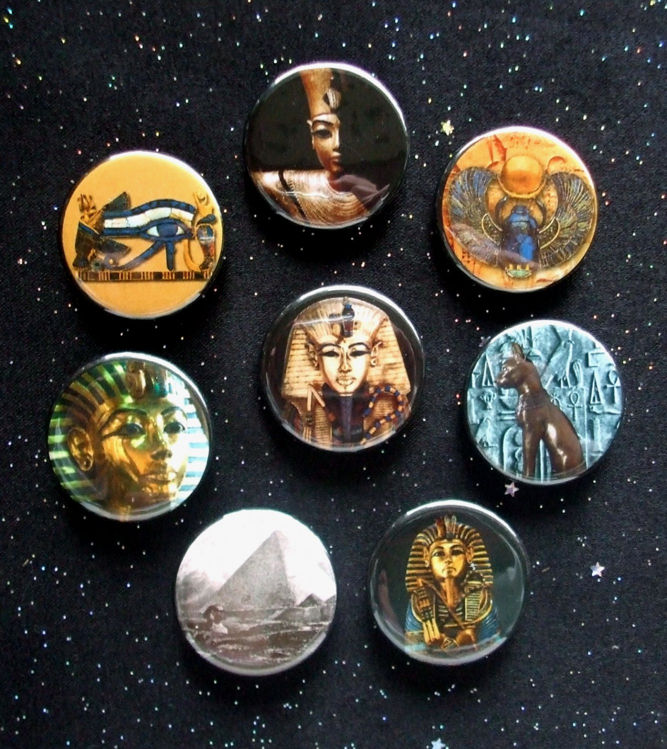 """Images of Ancient Egypt 1.25"""" Magnets Set of 8"""