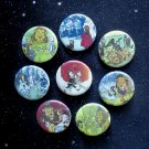 "Wonderful Wizard of Oz 1.25"" Magnets Set of 8"