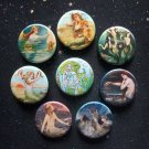 "Mermaids 1.25"" Magnets Set of 8"