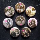 "I Heart My Dog 1.25"" Magnets Set of 8"