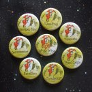 "Fox & Grapes White Wine 1.25"" Magnets Set of 8 Chardonnay, Riesling, & More"