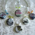 Titanic Wine & Drink Glass Charms Set of 6
