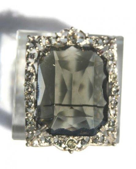 Vintage Sarah Coventry �Celebrity� Grand Parure Smokey Crystal Jewelry Set