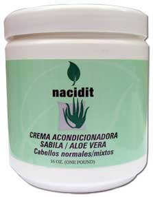 Nacidit Crema Acondicionadora Sabila - Aloe Vera Conditioning Cream (16 oz.)