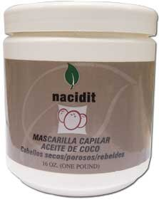 Nacidit Mascarilla Capilar Aceite de Coco - Coconut Oil Hair Mask (16 oz.)