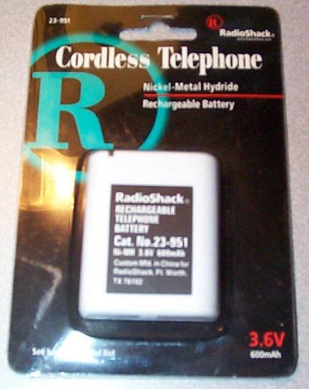 Radio Shack Cordless Phone Battery 23-951 New In Package KXA43  PP543