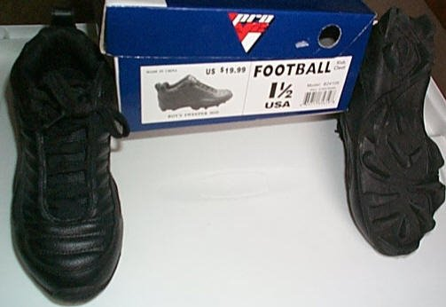 Football Cleats Boys Size 1.5 Pro V2 Used 5 times