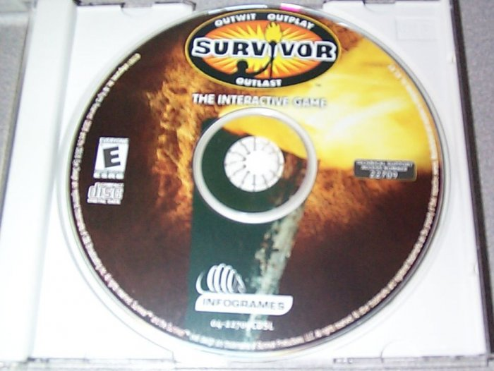 SURVIVOR The Interractive Game PC Game Disk