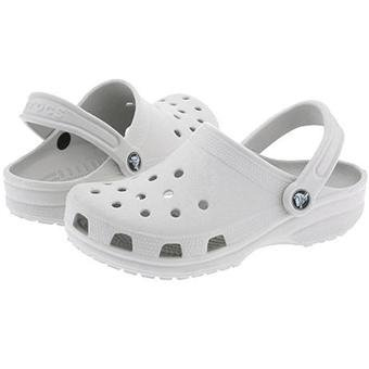 White Childrens Crocs shoes size M3/W5 New on sale!