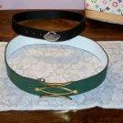 Vintage Leather Brass Women's Belts Italian 3