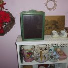 Vintage Wooden Picture Frame Green Chippy Paint