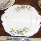Vintage Yellow Flowers Dish  Almost Square