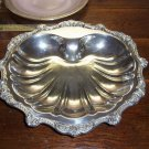 Silver Plate Shell Shaped Serving Dish Footed Ornate SILVER SALE
