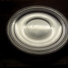 Silver Plate Serving Tray Pierced Silver Round SILVER SALE