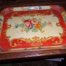 Vintage Papier Mache Tray Red Roses Amazing