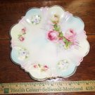 Vintage Silesia Roses Floral Scalloped Border Porcelain  Plate B