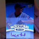 Kevin Hart 2008 upper deck premier rookie signatures Autogragh rookie card Chicago Cubs