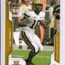 2008 EARL BENNETT UPPER DECK DRAFT EDITION ROOKIE CARD CHICAGO BEARS VANDERBILT