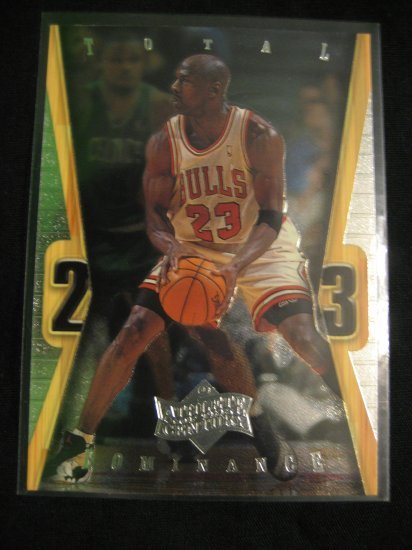 Michael Jordan 1999 Upper Deck Athlete of the century Total Dominance insert card Chicago Bulls