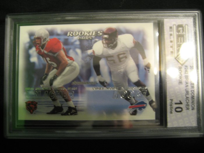 2000 Fleer Dominion Brian Urlacher Corey Moore Gem-mint 10 rookie card Chicago Bears
