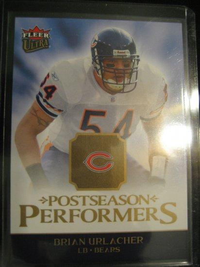 2006 Brian Urlacher Fleer Ultra Postseason Performers insert card Chicago Bears Linebacker