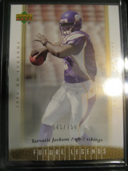 Travaris Jackson 2006 UD Ledgends Future Ledgends rookie card #750 Minnesota Vikings