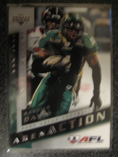 Rashied Davis 2005 Upper Deck AFL rookie card Chicago Bears Wide Receiver