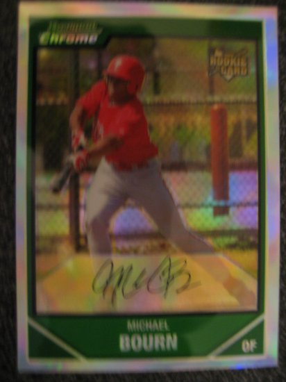 Michael Bourn 2007 Bowman Chrome refractor rookie card Huston Astros