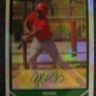 Michael Bourn 2007 Bowman Chrome refractor rookie card Huston Astros