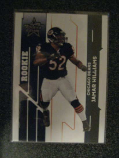 Jamar Williams 2006 Leaf Rookie & Stars rookie card Chicago Linebacker